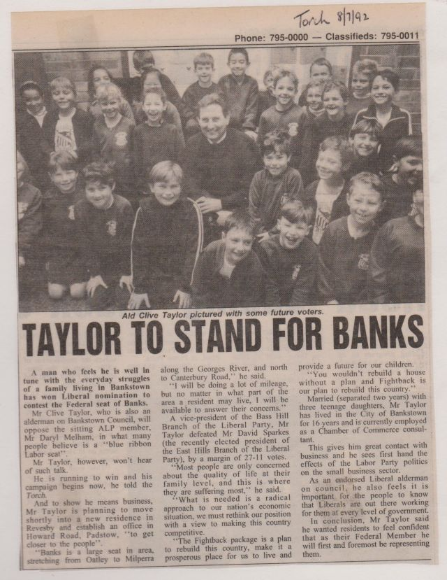 Taylor Runs For Banks